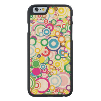 Lot of vivid circles carved maple iPhone 6 case