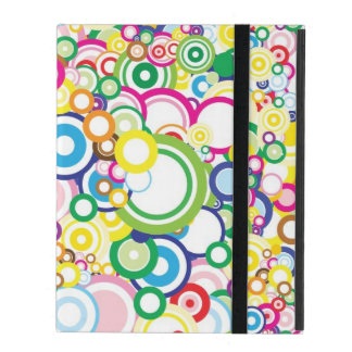 Lot of vivid circles iPad cover