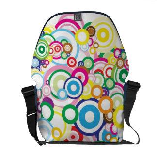 Lot of vivid circles messenger bags