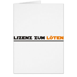 löten greeting card