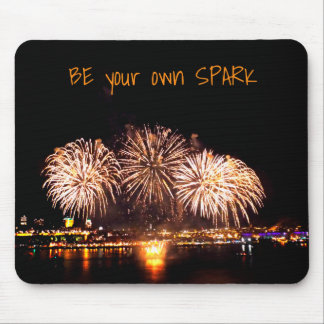 Loto Quebec Fireworks and Motivational Quote Mouse Mat