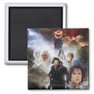 LOTR Character Collage Square Magnet