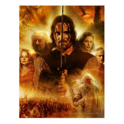 LOTR: ROTK Aragorn Movie Poster Post Cards