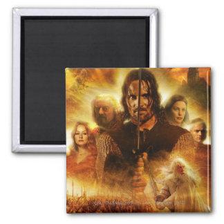 LOTR: ROTK Aragorn Movie Poster Square Magnet