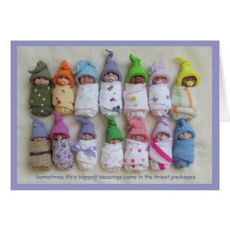 LOTS and LOTS of Cute Clay Babies With Saying Greeting Card