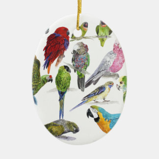 Lots and lots of Parrots on lots and lots of gifts Christmas Ornament