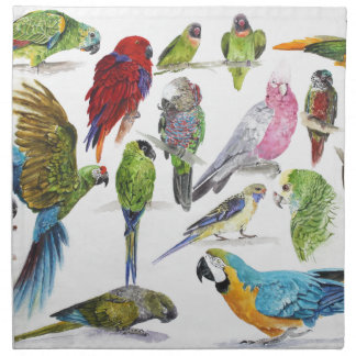 Lots and lots of Parrots on lots and lots of gifts Napkin