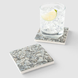 Lots And Lots Of Seashells Stone Beverage Coaster