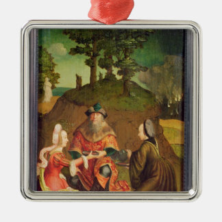 Lot's daughters make their Father drink Wine Christmas Ornament