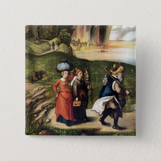 Lot's escape 15 cm square badge