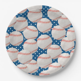 Lots of Baseball Balls Paper Plate