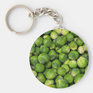 Lots of Brussels Sprouts Basic Round Button Key Ring