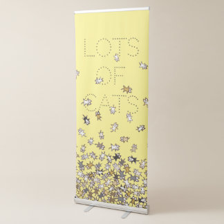 Lots of cats Custom text Yellow Retractable Banner