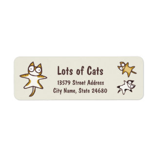 Lots of Cats Return Address Label