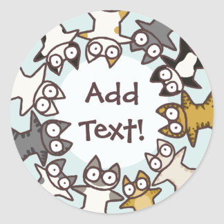Lots of Cats Round Sticker