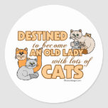 Lots Of Cats Round Stickers