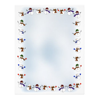 Lots of Christmas Cartoon Snowmen Personalized Flyer