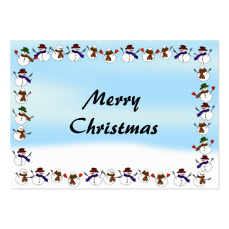Lots of  Christmas Cartoon Snowmen Pack Of Chubby Business Cards