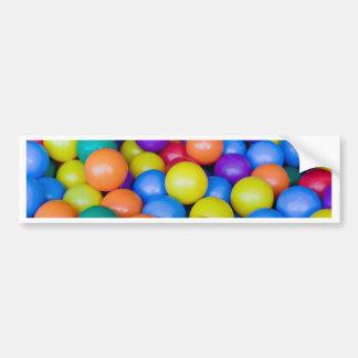 Lots of colorful plastic balls bumper stickers