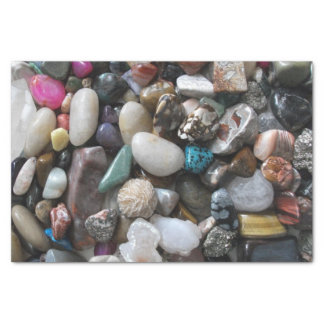 Lots of Colorful Polished Rocks Tissue Paper