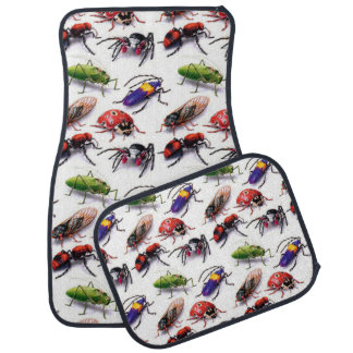 lots of crawling beetle bugs realistic design floor mat
