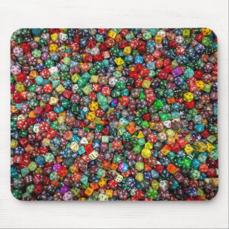 Lots of dice! mouse mat