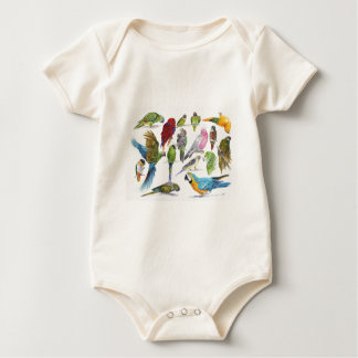 Lots of different Parrots of gifts especially for Baby Bodysuit