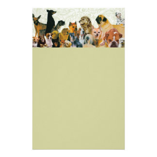 Lots of Dogs Collage Letterhead Stationery Paper