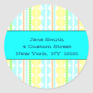 Lots of Dots! Turquoise Address Labels Stickers