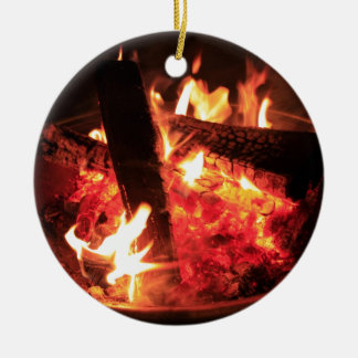 Lots of Fire and Coals Christmas Ornament