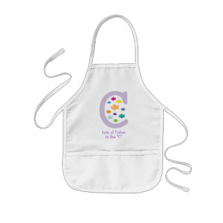 """Lots of Fishes in the """"C""""_multicolored goldfish Kids Apron"""