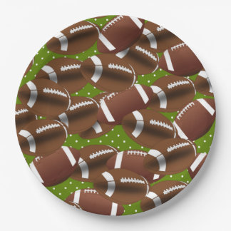 Lots of Football Paper Plate