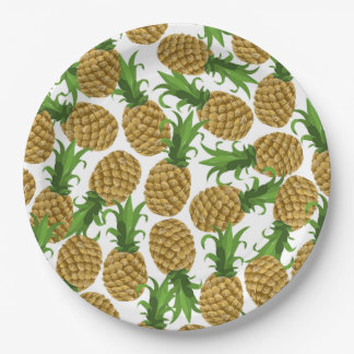 Lots of Golden Pineapples Paper Plate