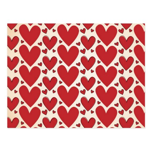 """""""Lots of Hearts"""" Design Post Card"""