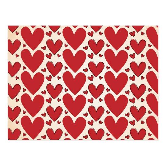 """Lots of Hearts"" Design Postcard"