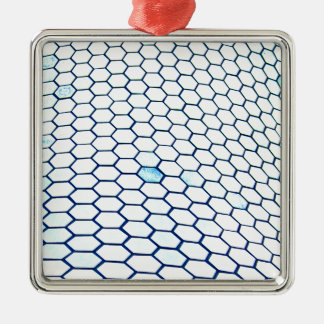 Lots of hexagons christmas ornament