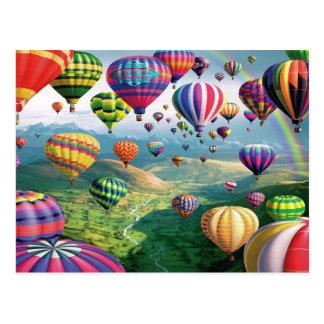 Lots Of Hot Air Balloons Postcard