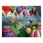 Lots Of Hot Air Balloons Poster