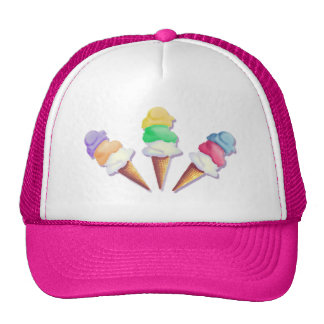 LOTS of ICE CREAM FLAVORS by SHARON SHARPE Cap
