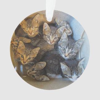 Lots of Kittens Ornament