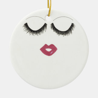 Lots of Lashes Christmas Ornament