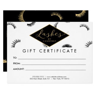 Lots of Lashes Lash Salon White/Black Gift Card 11 Cm X 16 Cm Invitation Card