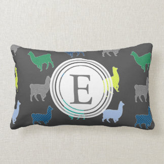 Lots of Llamas Pattern Monogram Lumbar Cushion