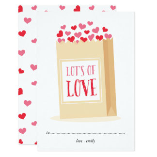 Lots of love classroom valentine's day card
