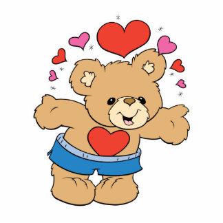 lots of love valentine teddy bear design photo cutouts