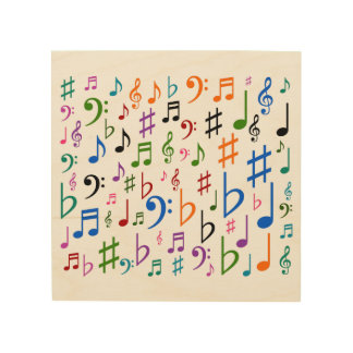 Lots of Musical Notes and Symbols Wood Wall Decor