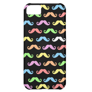 Lots of Mustaches (black) iPhone 5C Case