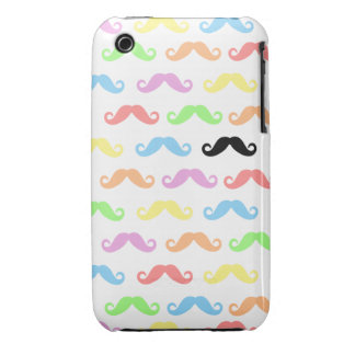 Lots of Mustaches white Iphone Case-Mate Case-Mate iPhone 3 Case