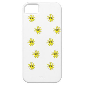 Lots of No Worries smiley iphone 5 case