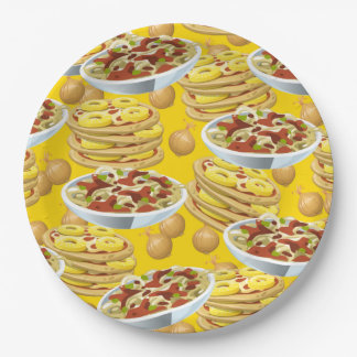 Lots of Pasta and Pizza Paper Plate